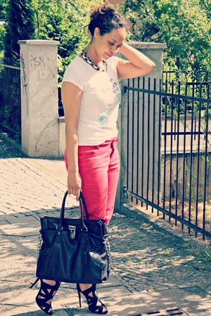 Promod jeans - Michael Kors bag - SOliver t-shirt - Zara heels
