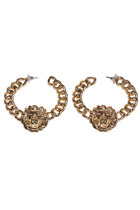 Lion Head Earrings Loops