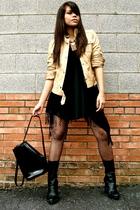 Massimo Dutti jacket - Vintage Versace - calvin klein boots