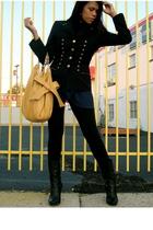 Vintag Escada blazer - vintage intimate - Pink Rose leggings - calvin klein boot