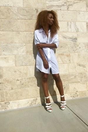 Norma Kamali dress - shoe republic LA sandals
