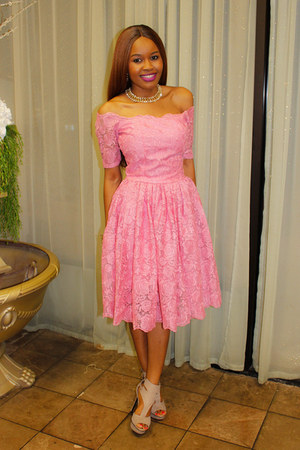 bubble gum lace dress
