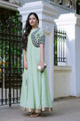 Nude-zara-shoes-lime-green-local-designer-dress-navy-local-designer-jacket
