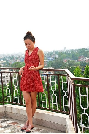 red own design romper