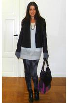 Wrangler jacket - GINA TRICOT blouse - Zara jeans - Chanel boots - Claudio Ferri