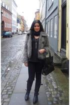 Rachel Zoe jacket - Y by Alexander Wang t-shirt - sass & bide jeans - botkier pu