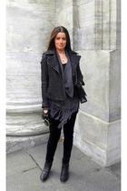 Wrangler jacket - GINA TRICOT sweater - H&M dress - BikBok leggings - Chanel pur