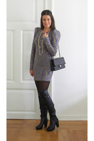 H&M dress - from Mallorca boots - Chanel purse - H&M accessories