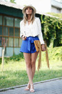 Bershka-jacket-nifty-josephine-shorts-orsay-blouse-h-m-sandals