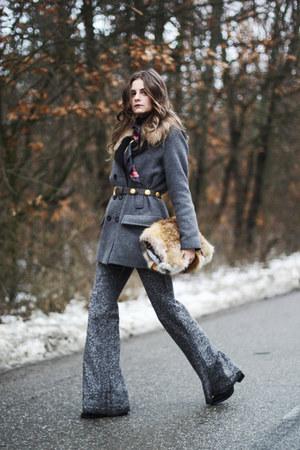 Easy Wear coat - Hermes scarf - Local store pants