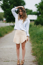 SOliver shirt - Zara skirt - Local store sandals