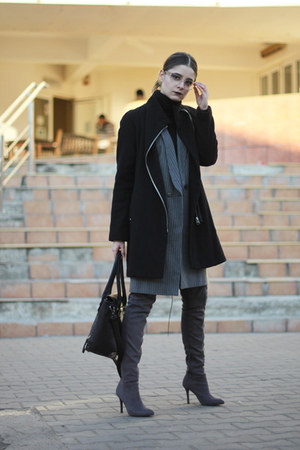 H&M boots - Mango coat - Call it Spring bag - Zara vest
