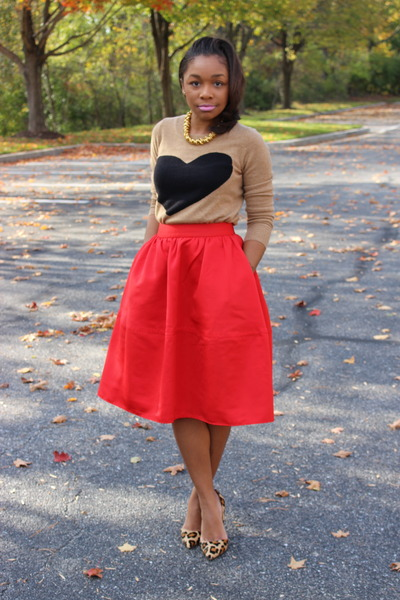 JCrew sweater - Express skirt - Kurt Geiger pumps - Atlantis Dry Goods necklace