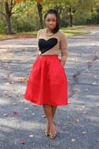 JCrew sweater - Express skirt - Kurt Geiger pumps - Atlantis Dry Goods necklace
