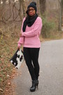 Forever-21-hat-asos-sweater-chan-luu-scarf-love-cortnie-bag-jcrew-pants