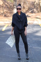 free people sweater - Love Cortnie bag - Coco & Breezy sunglasses - JCrew pants