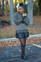 Forever 21 skirt - thrifted sweater - Steven by Steve Madden flats