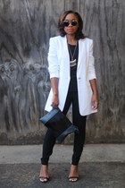 ann taylor blazer - Love Cortnie bag - super sunglasses sunglasses