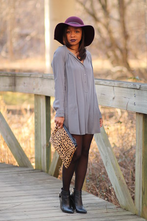 Lord & Taylor hat - bcbg max azria dress - bcbg max azria tights