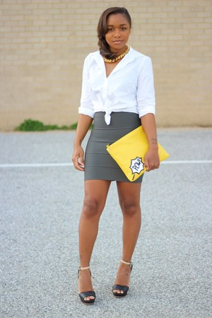 Love Cortnie bag - bcbg max azria skirt - JCrew top