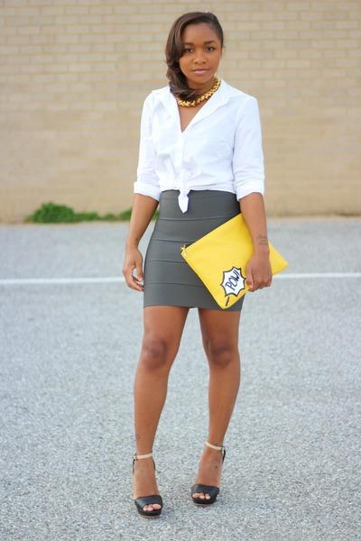 Love Cortnie bag - bcbg max azria skirt - JCrew top