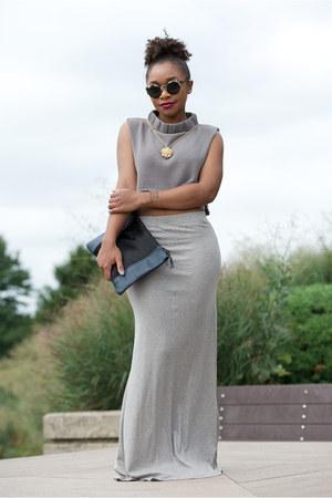 bcbg max azria skirt - Love Cortnie bag - Super sunglasses - The Limited top