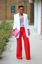 ann taylor blazer - Love Cortnie bag - Forever 21 top - Express pants