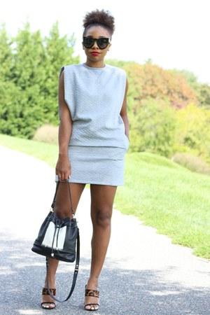Love Cortnie bag - asos dress - 80s Purple sunglasses - Schutz heels
