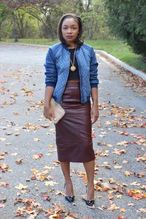 GapKids jacket - H&M shirt - Love Cortnie bag - asos skirt - Kurt Geiger pumps