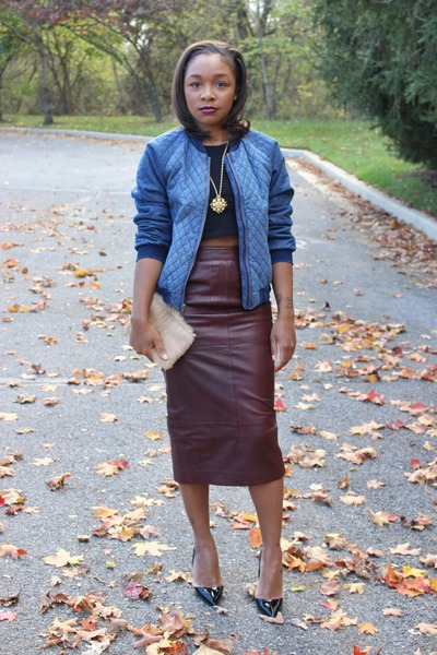 GapKids jacket - H&M shirt - Love Cortnie bag - asos skirt - Kurt Geiger pumps
