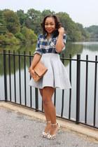 Mode de Dicy skirt - Love Cortnie bag - JCrew top - madewell necklace