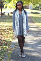 bcbg max azria dress - Express tights - JCrew scarf - Aldo heels