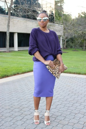 Macys sweater - Love Cortnie bag - asos sunglasses - Boohoo skirt