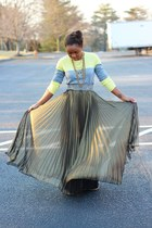 bcbg max azria skirt - Gap sweater - Anthropologie belt