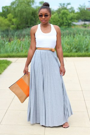 asos skirt - Love Cortnie bag - madewell sunglasses - JCrew belt