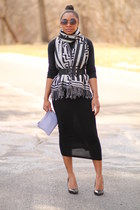 bcbg max azria belt - Anthropologie scarf - Love Cortnie bag