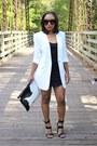 Nasty-gal-dress-ann-taylor-blazer-love-cortnie-bag-80s-purple-sunglasses