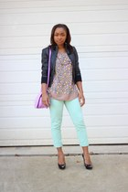 JCrew jeans - trouve jacket - JCrew bag - bcbg max azria top
