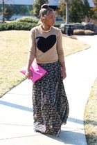 JCrew sweater - Anthropologie dress - Love Cortnie bag