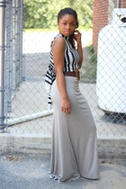Anthropologie belt - banana republic top - bcbg max azria skirt