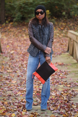 Gap jacket - True Religion jeans - Forever 21 hat - Love Cortnie bag