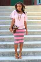 Gap top - Love Cortnie bag - H&M skirt - Forever 21 necklace - Nine West heels