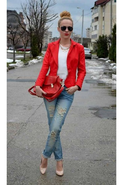 red love the color unknown blazer