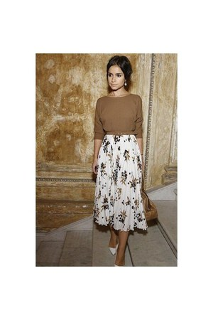 ivory floral skirt unknown skirt
