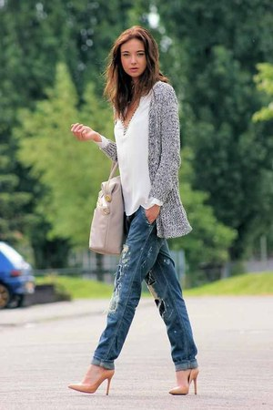 blue ripped jeans unknown brand jeans
