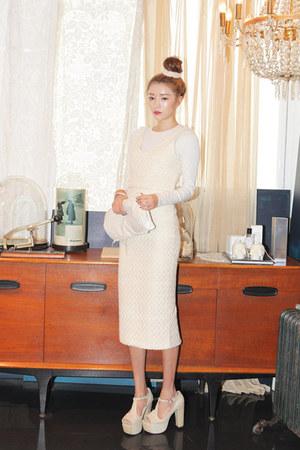 ivory lacey vest Stylenanda vest - ivory lacey skirt Stylenanda skirt