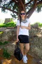 statement happinessboutiquecom necklace - blue lense lindex sunglasses