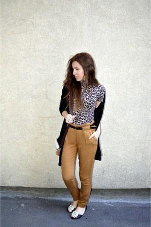 leopard print Terranova top - black New Yorker cardigan - Jennifer pants