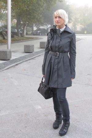 Patrizia Pepe coat - Mango jeans - Zara blouse
