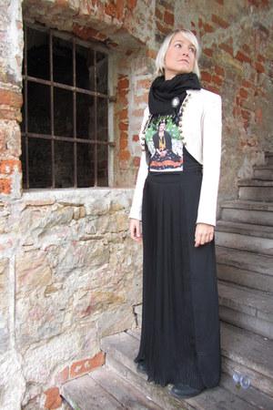 Bebe jacket - wgw t-shirt - Zara skirt